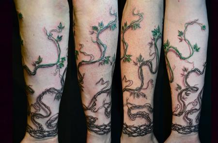 vines tattoo arm