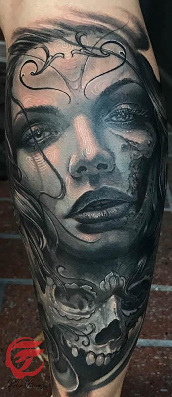 20 Red And Black And Grey Tattoos Of The Day Dead Ideas And Designs