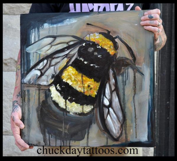 Bee Oil Painting Chuck Day Original Art