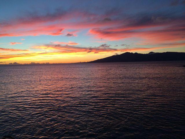 Sweet Trade Tattoo: West Maui Sunset from Honolua Bay. 1