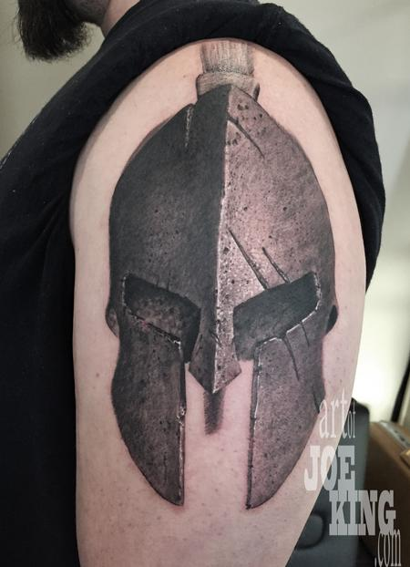 20 Ra Spartan Helmet Tattoos For Men Ideas And Designs