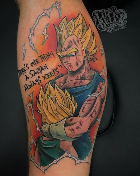 Dragon Ball Z Arm Tattoo