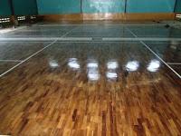 Lantai kayu Parket Galaxy Badminton Cikupa