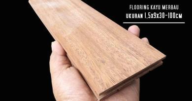 lantai flooring kayu merbau