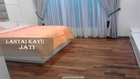 lantai kayu jati pada kamar