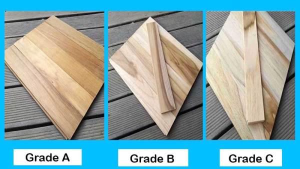grade kayu jati