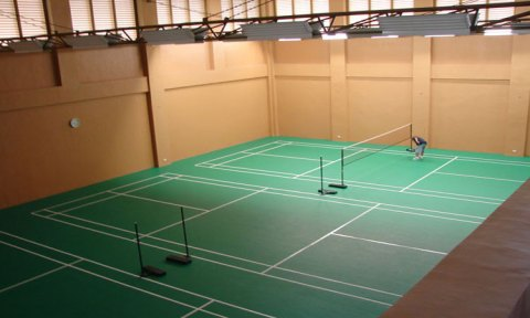 lapangan badminton indoor