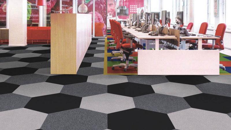 lantai karpet untuk area perkantoran