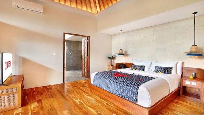 material lantai kayu sangat cocok untuk sebuah villa