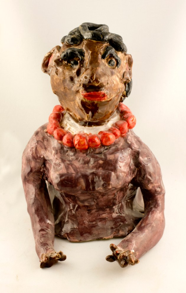 Oprah - glazed ceramic by Aba Garbarh