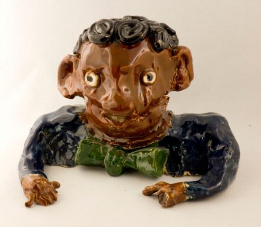 Sidney Poitier - glazed ceramic by Aba Garbrah