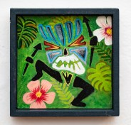 The Native is Restless Acrylic on board $50.00 (framed)