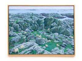 """Sheep, 2007 Oil on canvas 48"""" x 36"""" (framed) NFS"""