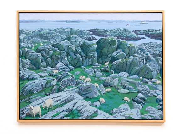 "Sheep, 2007 Oil on canvas 48"" x 36"" (framed) NFS"