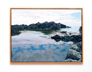 "Skude Inlet Oil on canvas 50"" x 38"" (framed)