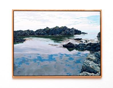 """Skude Inlet Oil on canvas 50"""" x 38"""" (framed) NFS"""