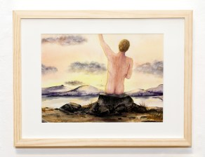 Sunset Figure, 2021 Watercolor $120.00