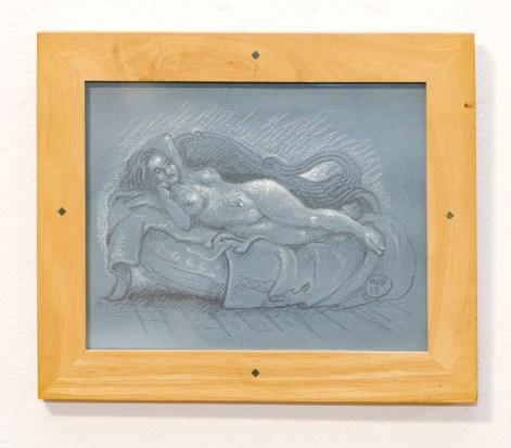 Reclining Nude, 2019 Pencil & chalk $100.00