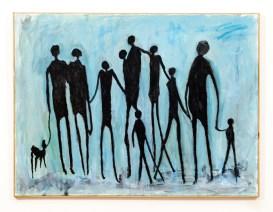 "Family Reflections Acrylic on canvas 40"" x 30"" $150.00"