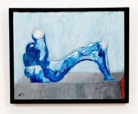 "Man Reclining Acrylic on canvas 20"" x 16"" $75.00"