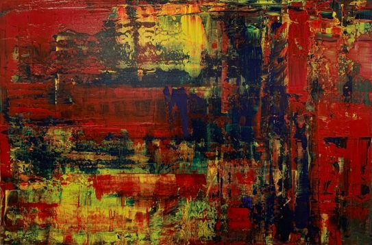 Untitled Abstract Acrylic Framed $100.00