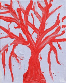 Red Tree on Lilac Acrylic on canvas $100.00