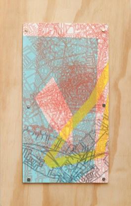 A Gang of Elks, 2016 Silkscreen monoprint Mounted on wood panel $115.00
