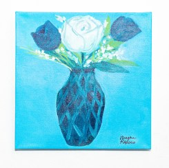 Blue Vase with Tulips Acrylic on canvas $75.00