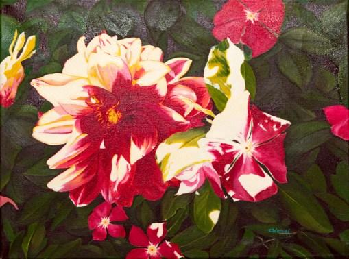 Dahlia and Sun Oil on canvas $750.00