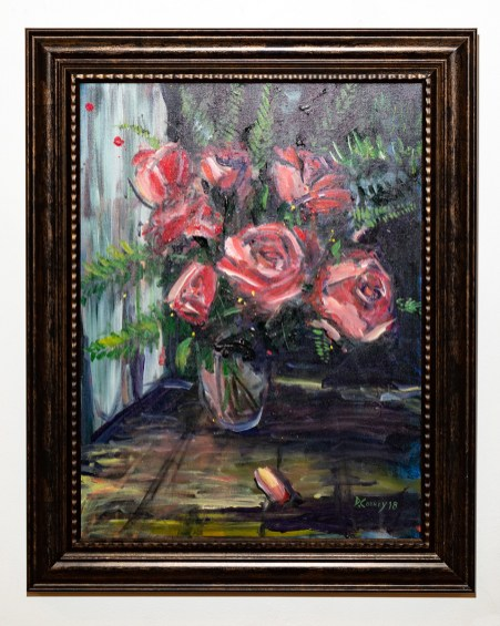 Bouquet of Roses, 2018 Acrylic on canvas Framed $700.00