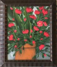 "Rouge Domination, 2020 Acrylic 8"" x 10"" framed $95.00"