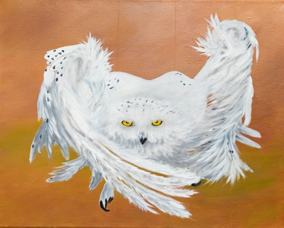 Snowy Owl Acrylic on canvas $125.00