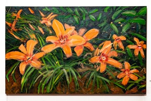 Tiger Lily Garden, 2021 Acrylic collage $1200.00