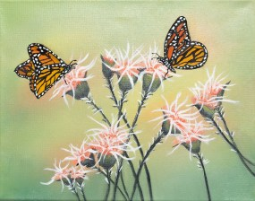 Untitled (Butterfly) Oil on canvas $85.00