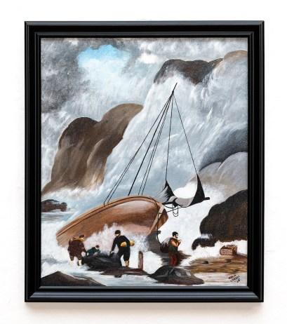 Maria Crocker Storm Acrylic Framed $495