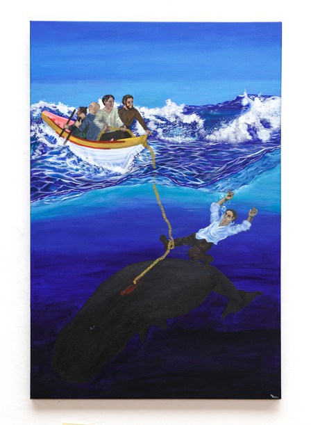 Vovô's Accident with the Whale Acrylic on canvas $400.00