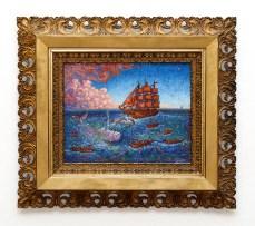 Moby Dick Oil on oak Framed SOLD!