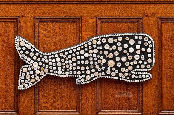 Mother of Pearl Whale Mixed media $300.00