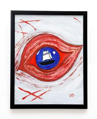 Eye Acrylic Framed $100.00