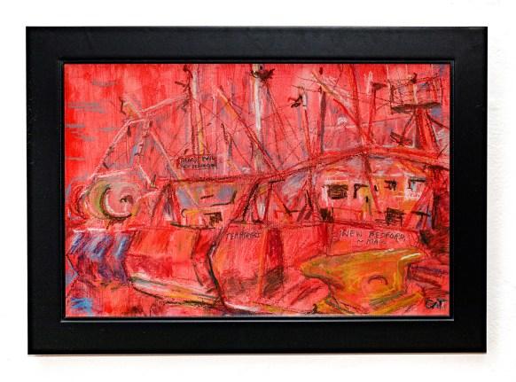 Hunt, 2021 Oil pastel Framed $375.00