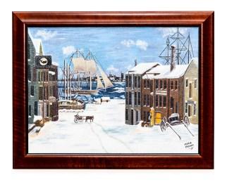 Maria Crocker Centre Street, New Bedford Acrylic Framed NFS