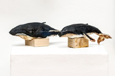 Pair of Humpbacks Soda fired ceramic $100.00/each 1 available. 1 Sold!