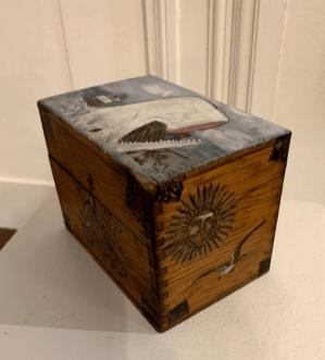 Susan Hauck Faux Whalebone Ditty Box - 1 Wood, paint $135.00
