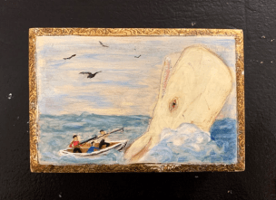 Susan Hauck Faux Whalebone Ditty Box - 3 Wood, paint $135.00