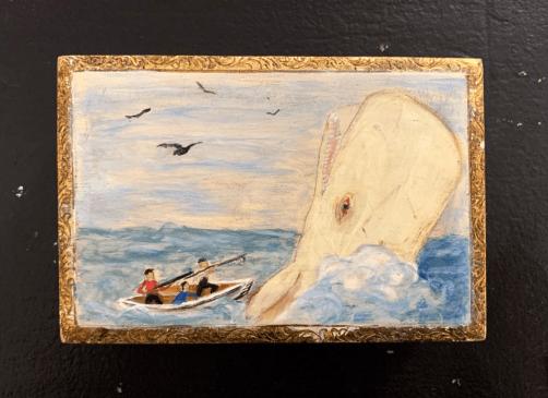 Faux Whalebone Ditty Box - 3 Wood, paint $135.00