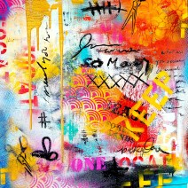 """Kelley Ann Donnelly Beasts Mixed media 24"""" x 24"""" $475.00"""