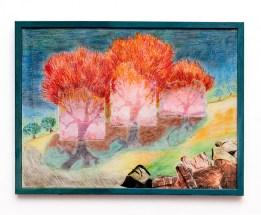 R Joseph Untitled Pastel collage $300.00