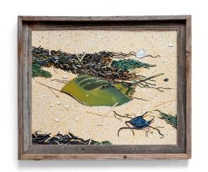 Tom Quinn Horseshoe Crab with Skate Egg Acrylic $400.00