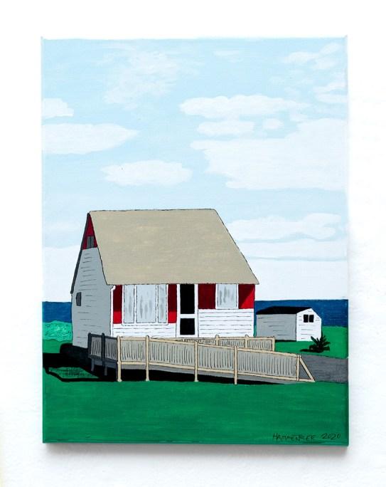 Don Hammontree Coastal Cottage, New Brunswick Acrylic & ink $135.00