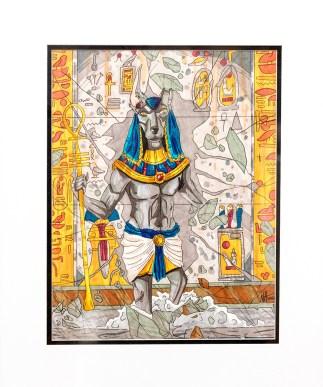 Nathan Amaral Anubis, 2021 Ink, marker $200